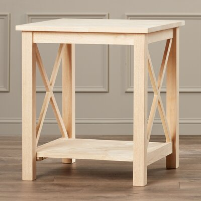 Towner End Table Finish: Unfinished