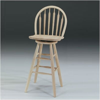 Imogene 30 Swivel Bar Stool Finish: Unfinished