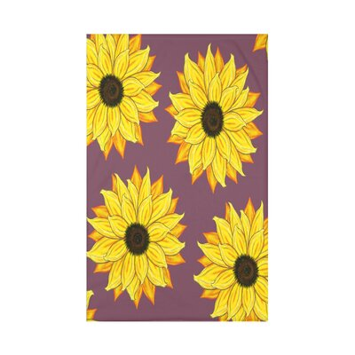 Vieux Sunflower Power Flower Print Throw Blanket Size: 50 H x 60 W x 0.5 D, Color: Purple