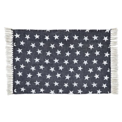 Deuxville Navy Area Rug Rug Size: Rectangle 18 x 26