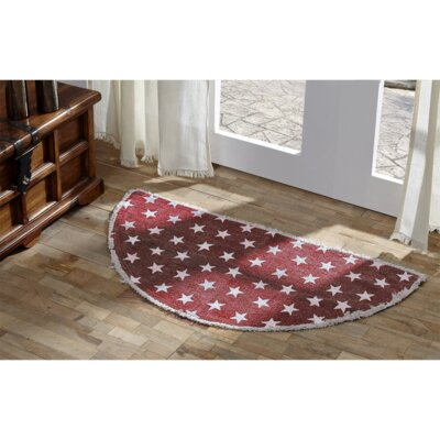 Emilion Red Area Rug Rug Size: Half Circle 15 x 29