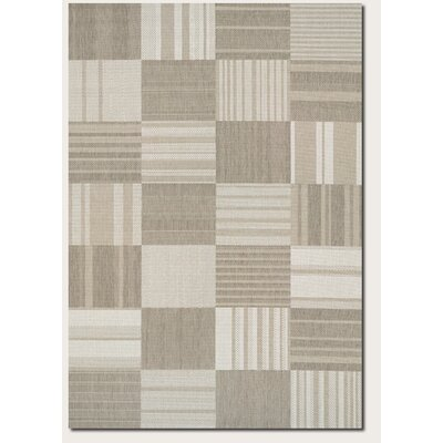 Marche Beige/Ivory Indoor/Outdoor Area Rug Rug Size: Rectangle 53 x 76
