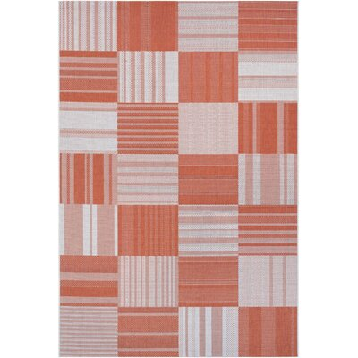 Marche Pumpkin/Ivory Indoor/Outdoor Area Rug Rug Size: Rectangle 53 x 76