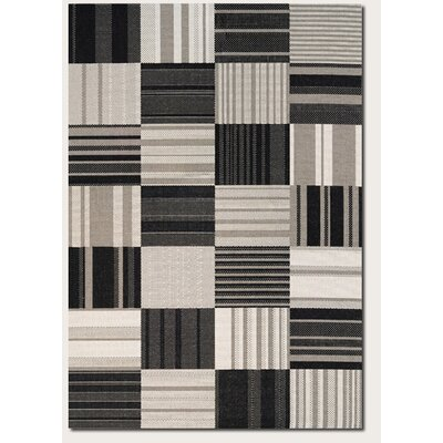 Marche Onyx/Ivory Indoor/Outdoor Area Rug Rug Size: Runner 22 x 119