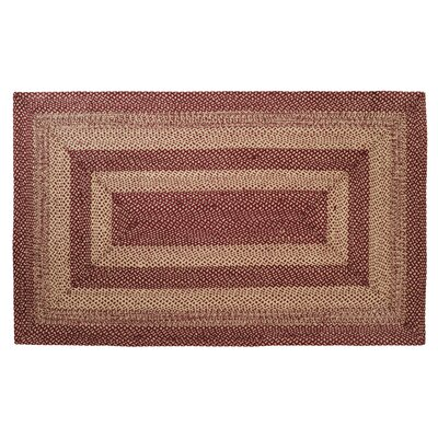Chugwater Burgundy / Tan Area Rug Rug Size: Rectangle 5 x 8