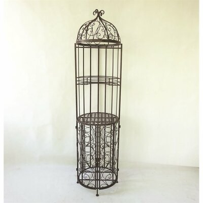 Linden Birdcage Design Floor Wine Bottle Rack