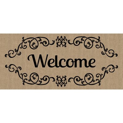 Liliane Welcome scroll Sassafras Doormat