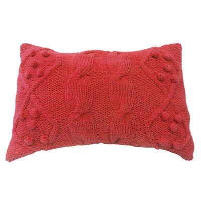 Dimont Twisted Cable Knit Cotton Lumbar Pillow Color: Orange