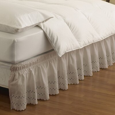 Baudemont Eyelet Bed Skirt Size: Twin/Full, Color: Camel