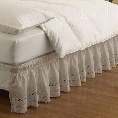 Baudemont Eyelet Bed Skirt Size: Queen/King, Color: Camel