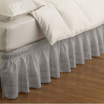 Baudemont Eyelet Bed Skirt Size: Twin/Full, Color: Gray