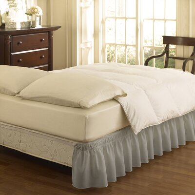 Charroux Ruffle Bed Skirt Size: Queen/King, Color: Gray