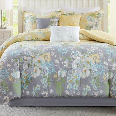 Jade 7 Piece Comforter Set Size: King