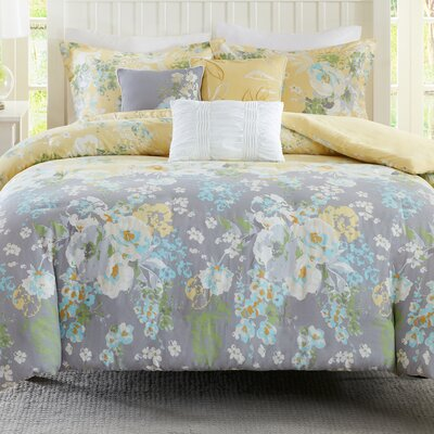 Jade 6 Piece Duvet Cover Set Size: Full/Queen
