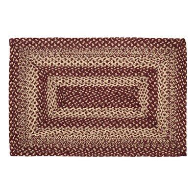 Shania Burgundy/Tan Area Rug Rug Size: 23 x 4