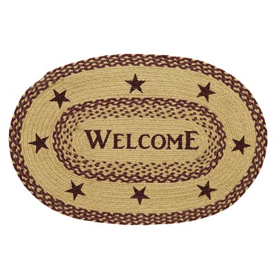 Melstone Welcome Doormat Rug Size: Oval  18 x 26