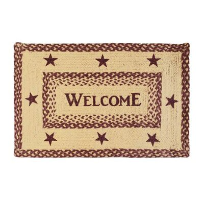 Melstone Welcome Doormat Rug Size: 18 x 26
