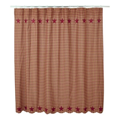 Diana Cotton Shower Curtain Color: Burgundy