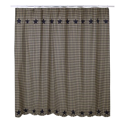 Diana Cotton Shower Curtain Color: Black