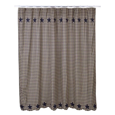 Diana Cotton Shower Curtain Color: Navy
