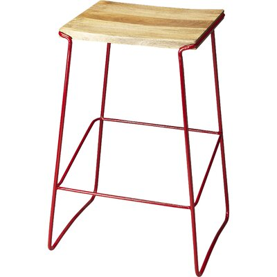 Noonan 31 Bar Stool Base Finish: Red