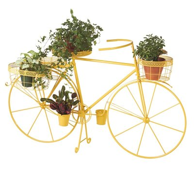 August Grove Dubay Bicycle Plant Stand