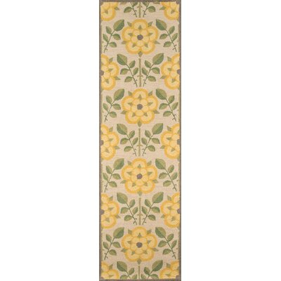 Dottie Hand-Tufted Yellow Area Rug Rug Size: Runner 23 x 8