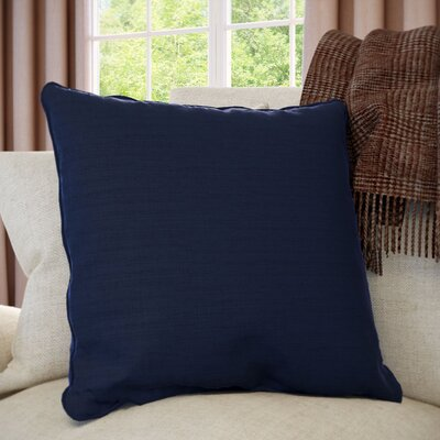 Meghan Throw Pillow Color: Navy, Filler: Down