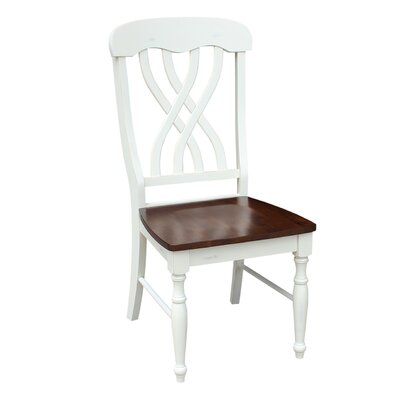 Anselme Solid Wood Dining Chair Finish: Espresso/Alabaster