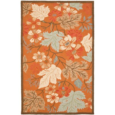 Ginger Orange Area Rug Rug Size: 4 x 6