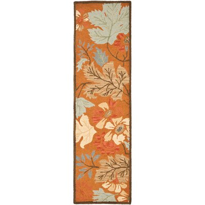 Ginger Orange Area Rug Rug Size: Runner 23 x 8