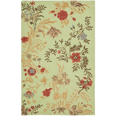 Ginger Light Green Area Rug Rug Size: Rectangle 5 x 8