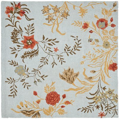 Ginger Blue Area Rug Rug Size: Square 6