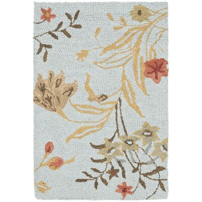Ginger Blue Area Rug Rug Size: Rectangle 2 x 3