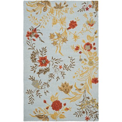 Ginger Blue Area Rug Rug Size: Rectangle 4 x 6