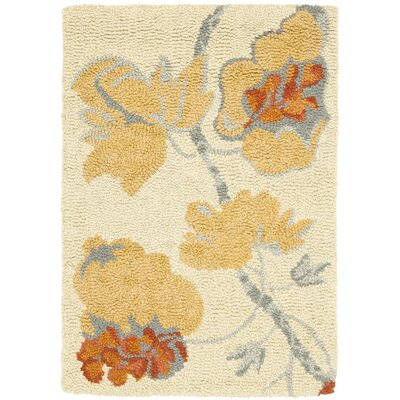 Ginger Beige Area Rug Rug Size: Rectangle 2 x 3