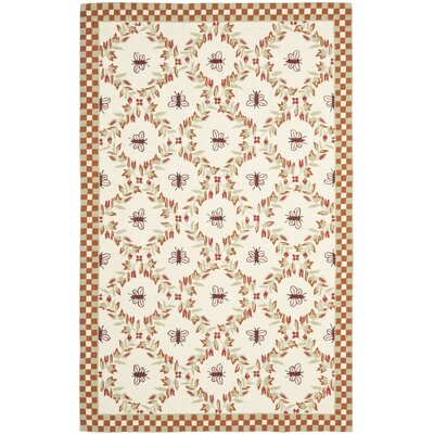 Roxane Ivory/Rust Area Rug Rug Size: Rectangle 53 x 83