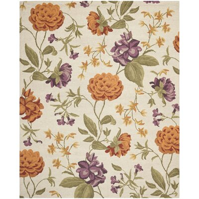 Ginger Ivory Floral Area Rug Rug Size: Rectangle 8 x 10