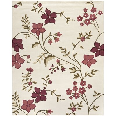 Fermont Ivory / Purple Area Rug Rug Size: Rectangle 4 x 6