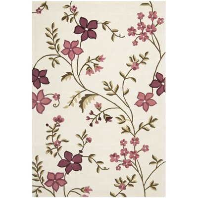 Fermont Ivory / Purple Area Rug Rug Size: 4 x 6