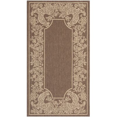 Margo Chocolate/Natural Indoor/Outdoor Area Rug Rug Size: Runner 24 x 911