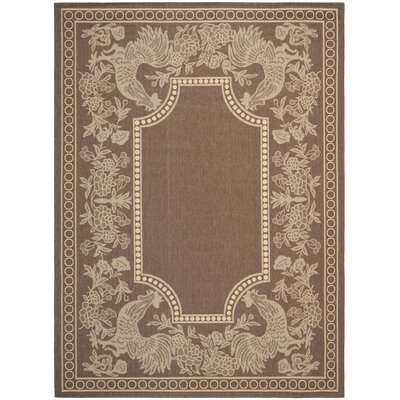 Margo Chocolate/Natural Indoor/Outdoor Area Rug Rug Size: Rectangle 4 x 57