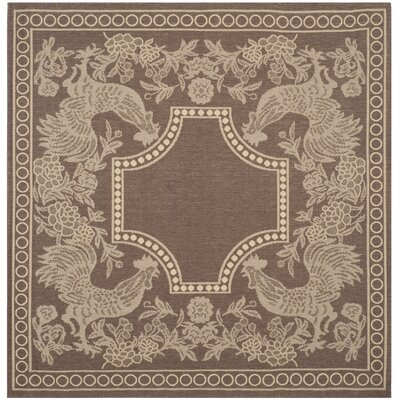 Margo Chocolate/Natural Indoor/Outdoor Area Rug Rug Size: Square 67