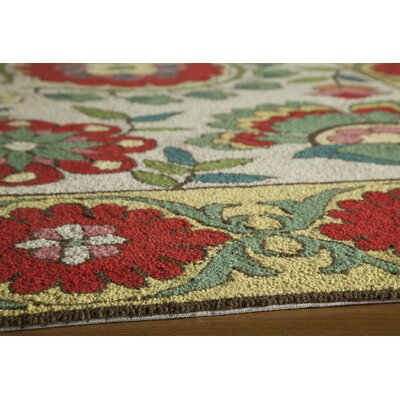Barbery Beige Area Rug Rug Size: Rectangle 36 x 56