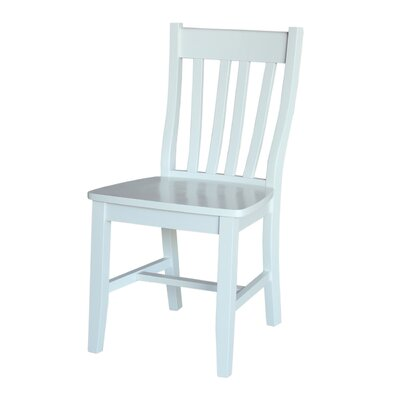 Toby Traditional Solid Wood Dining Chair Color: Linen