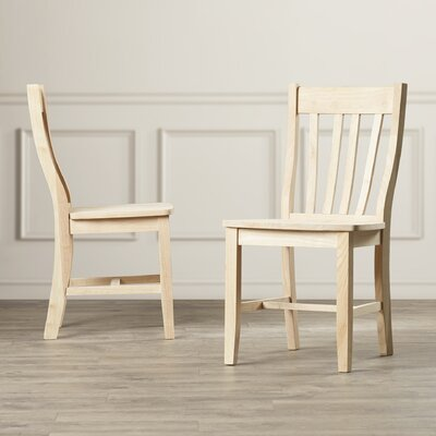 Imogene Solid Wood Dining Chair Finish: Unfinished