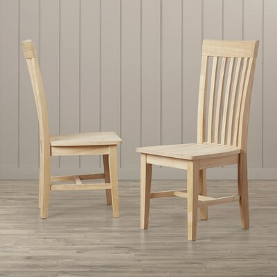 Toby Slat Back Solid Wood Dining Chair