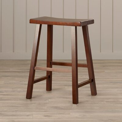 Toby 24 Backless Wood Bar Stool Color: Walnut