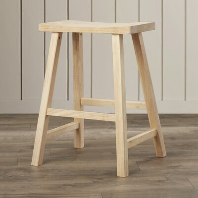 Toby 24 Backless Wood Bar Stool Color: Unfinished