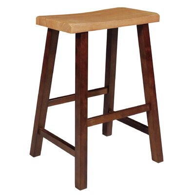 Toby 24 Backless Wood Bar Stool Finish: Cinnamon / Espresso